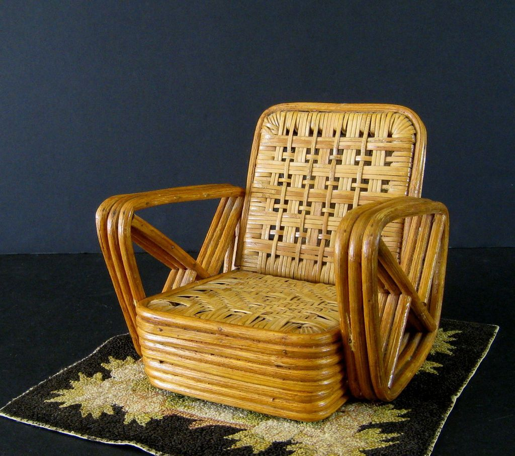 Paul Frankl Salesman Sample Rattan Furniture C 1950