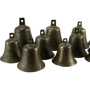 SALE Antique English Bronze Handbells 18th C William Rose Campanology Bell