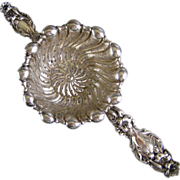 Sterling Silver Tea Strainer c1910 Whiting Lily