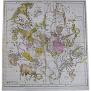 Set of 8 Celestial Engravings 1835 E H Burritt / F.J Huntington Antique Celestial Atlas Zodiac