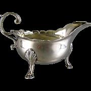 SOLD Georgian Sterling Silver Cream Sauce Boat c1782 Samuel Meritan II