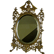 Renaissance Revival Bronze Vanity Table Mirror c1880 Victorian Antique Frame