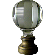 Cut Glass Newel Post Finial 19thC Bronze Mounts