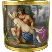 Royal Vienna Cabinet Cup 19thC Hand Painted 'Angelique et Medoro' Antique