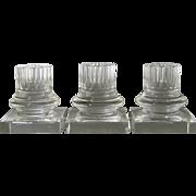 3 Column Form Steuben Candlesticks c.1930-50 Frederic Carder