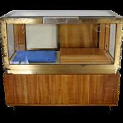 Miniature Salesman Sample Showcase Department Store Glass Display Case