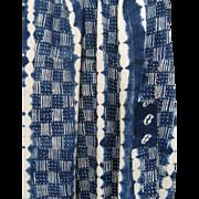 West African Indigo Handwoven Cloth Vintage Mali Textile D