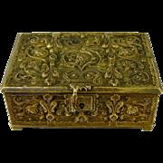 Erhard & Sohne Bronze Table Box c1900 Antique German Art Nouveau Casket Jugendstil