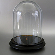 Antique Victorian Glass Display Dome