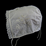 SOLD Early Whitework Embroidery Baby Cap c.1820 Antique Bonnet