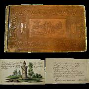 Album Amicorum c.1835 German Stammbuch Handwritten Friendship Album