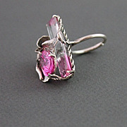 Ring Sterling Silver Bi-Color Ametrine Pink Topaz