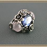 Silver Color Change  Alexandrite Rose Quartz