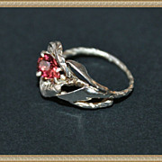 Ring Sterling Silver Facet Tourmaline
