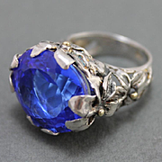 Sterling Silver Ring Gold Tanzanite Quartz Ring