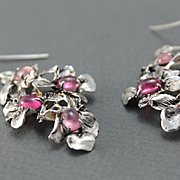 Earrings Sterling Silver Natural Sapphires
