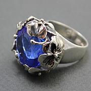 Sterling Silver Ring Tanzanite Quartz
