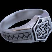 Men's Ring Runes Sterling Silver