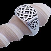 Mens Ring Runes Sterling Silver