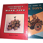 Greenberg's Guide to Marx Toys Volume I & II 2 Book set Maxine Pinsky 1990 ...