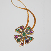 Stunning multicolor stone flower necklace vintage