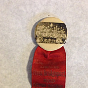 1919 First Bridgeport & Devon School Real photo Ribbon pin back CT