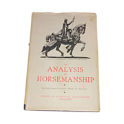 SALE PENDING An Analysis of Horsemanship by Henry R smalley Rare book 1932