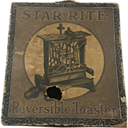 Fitzgerald Star-Rite Reversible toaster W cord and Box vintage!