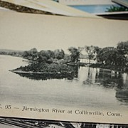 Farmington River at Collinsville CT Connecticut postcard
