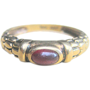 Vintage Pink Tourmaline 10kt Stackable Wedding Band Ring