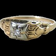 Vimtage Art Deco 12 kt Diamond Engagement Ring