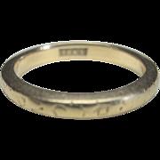 Vintage 18 kt Art Deco Stackable Wedding Band Ring