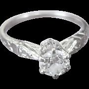 ...Vintage Art Deco 18kt .40 Diamond G-VS2 European Cut Engagement Ring