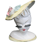 Vintage Lady Head Vase Planter