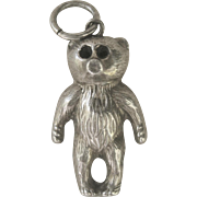 "Antique 1906 English Victorian ''Teddy Bear"" Sterling Charm"