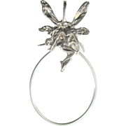 Vintage Sterling Fairy Necklace Charm Holder