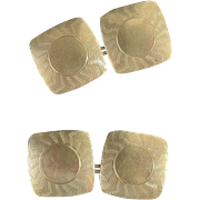 Vintage Art Deco 10kt Double Sided Cuff Links