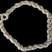 Vintage 14kt Rope Chain 5 grams Bracelet