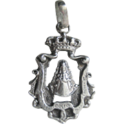 SALE CLEARANCE..Antique Edwardian Sterling Charm Watch Fob Pendant