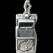 Vintage Sterling Message Prayer Box Charm Pendant