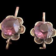 Antique Victorian 10kt Amethyst Earrings