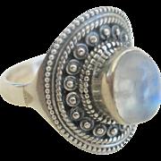 Vintage Sterling Moonstone Ring