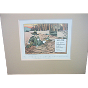 Vintage French Double Matted Golfing Print