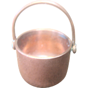 Vintage Copper Plated Doll House Bucket