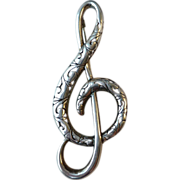 SALE Vintage Sterling Silver Musical Theme Treble Clef Pin