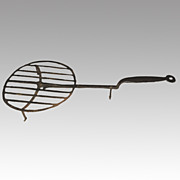 SOLD 18th Century Primitive Wrought Iron Whirling Gridiron Broiler Hearth Cooking Implement