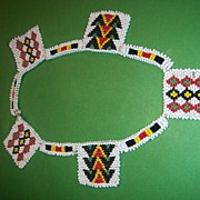 Woven Seed Bead Native Motif Choker/Necklace