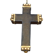 SALE Victorian 16ct Gutta Percha Cross