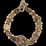 Antique Gold Slide Bracelet