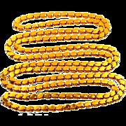 Vintage 38 inch  18KT Gold Chain